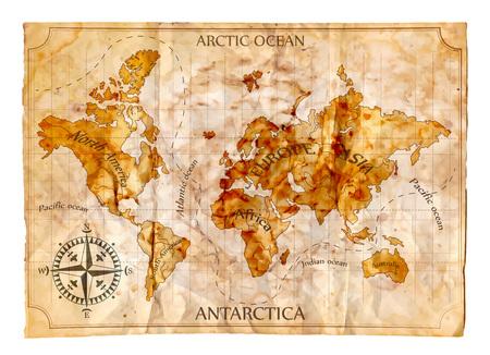 Illustration pour Old map, vector illustration - image libre de droit