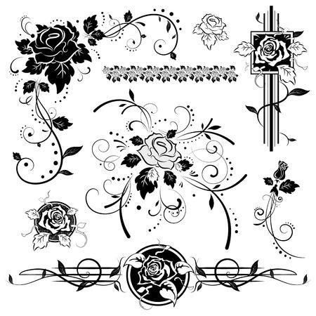 Illustration pour Roses, vintage design elements, illustration - image libre de droit