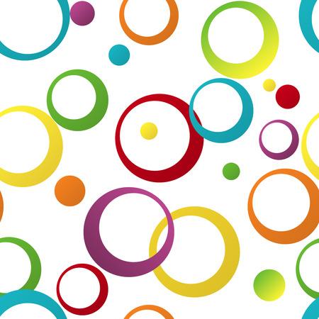 Ilustración de Seamless color pattern with geometric ornament the rings - Imagen libre de derechos