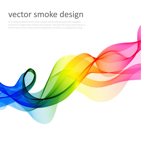 Illustration pour Abstract vector colorful background with transparent smoke - image libre de droit