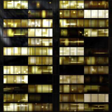 Foto de Seamless texture resembling illuminated windows in a building at night - Imagen libre de derechos