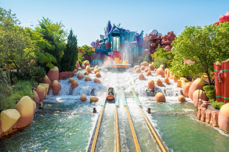 Photo for The Dudley Do-Right Ripsaw Falls ride at Universal Studios Islands of Adventure theme park - Royalty Free Image