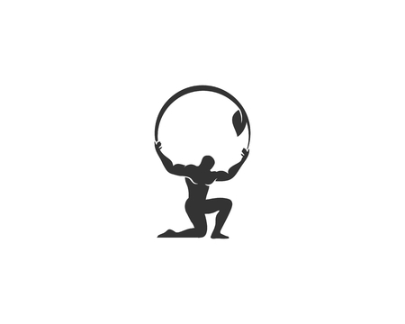 Illustration for Eco Atlas Logo - Royalty Free Image