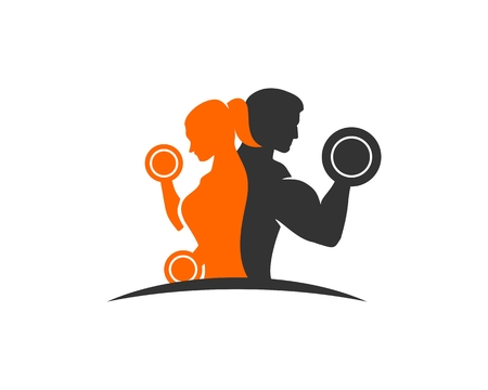 Photo for Couple fitness logo - Royalty Free Image