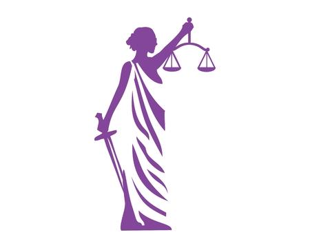 Illustration pour Lady justice icon - image libre de droit