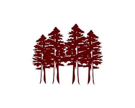 Ilustración de Redwood forest icon. - Imagen libre de derechos