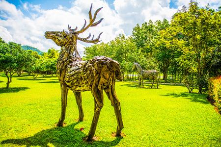 Foto de Park in Cherntawan International Meditation Center, Thailand. - Imagen libre de derechos