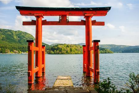 Photo pour Tori at Hakone, Japan. - image libre de droit