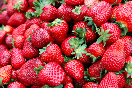 Photo for Detail of strawberry in group - Royalty Free Image
