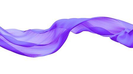 Foto de Purple fabric transparent on white Isolated background - Imagen libre de derechos