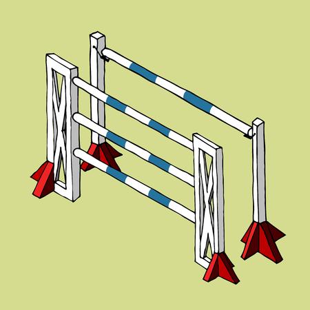 Ilustración de Equestrian obstacle vector - Imagen libre de derechos