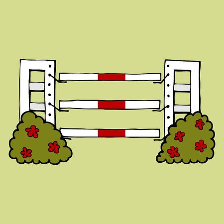 Ilustración de equestrian sport Jumping isolated vector - Imagen libre de derechos