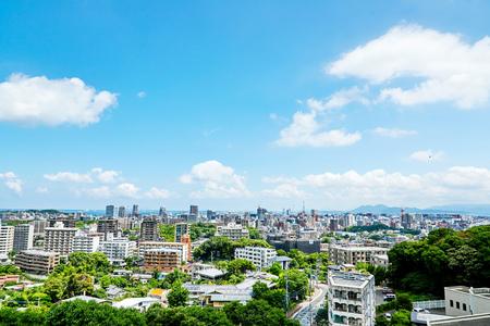 Photo pour landscape of Fukuoka city - image libre de droit