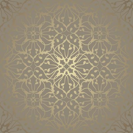 Ilustración de Seamless wallpaper with vintage ornament. Luxury background - Imagen libre de derechos