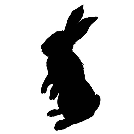 Illustration pour Bunny rodent black silhouette animal, animal, bunny, graphic, hare, icon, illustration, isolated nature pet rabbit silhouette symbol cute design easter - image libre de droit