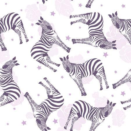 Illustration for Zebra pattern, illustration, animal. - Royalty Free Image