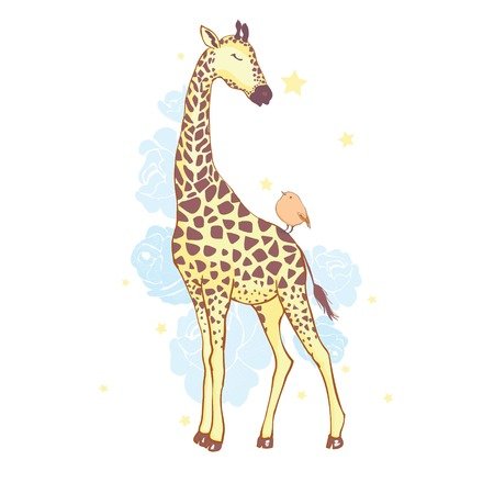 Illustration pour cute giraffe isolated icon vector illustration design - image libre de droit