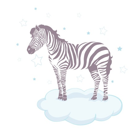 Illustration pour Cute zebra cartoon icon vector illustration graphic design - image libre de droit
