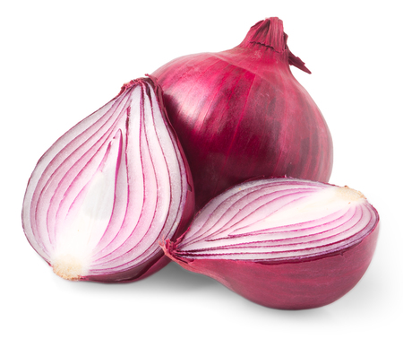 Photo pour red onion bulb isolated on white background  - image libre de droit