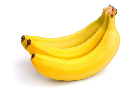 Photo pour Bunch of bananas isolated on white background. - image libre de droit