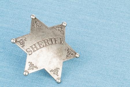 Foto de Sheriff badge - Stock image macro. - Imagen libre de derechos