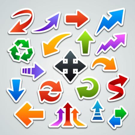Ilustración de arrow stickers - Imagen libre de derechos