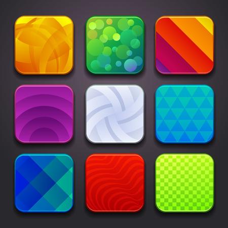 Illustration pour background for the app icons-part 6 - image libre de droit