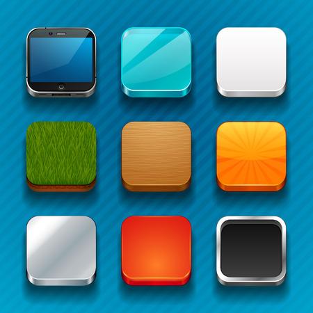 Illustration pour background for the app icons - image libre de droit