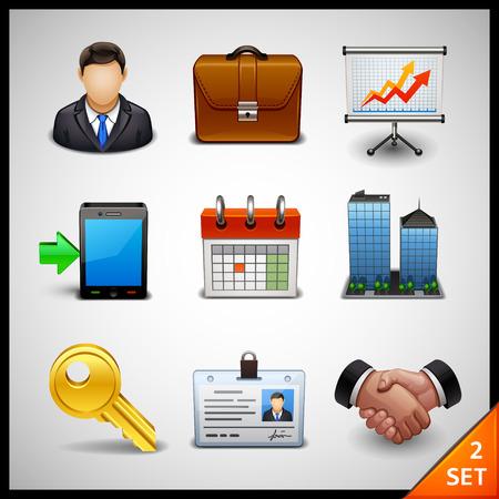 Illustration pour business icons - set 2 - image libre de droit
