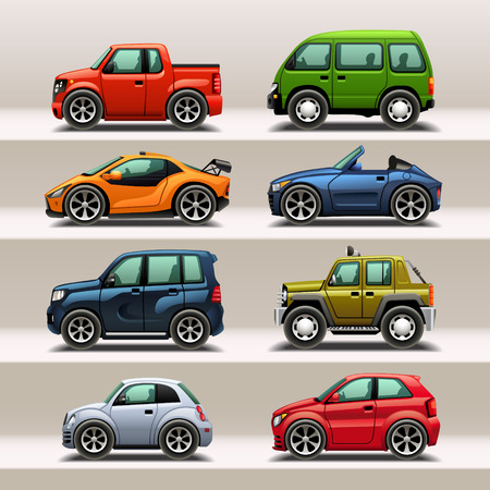 Illustration pour car icon set - image libre de droit