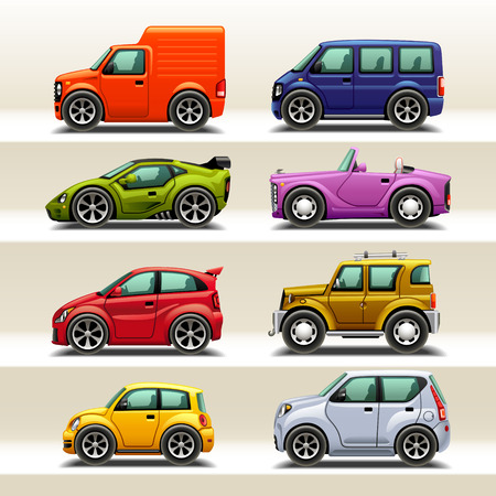 Illustration pour car icon set-2 - image libre de droit