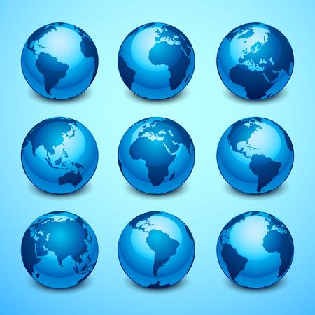 Illustration pour Globe icons - image libre de droit