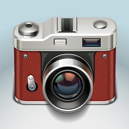 Ilustración de retro camera icon - Imagen libre de derechos