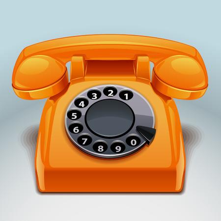 Ilustración de retro phone icon - Imagen libre de derechos