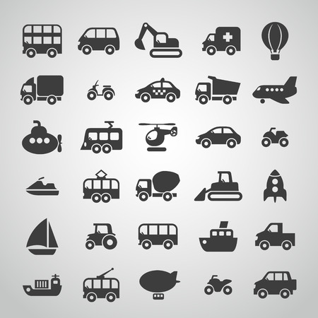 Photo for transportation icon set - Royalty Free Image