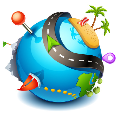 Illustration pour Travel icon - image libre de droit