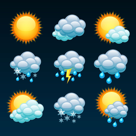 Illustration pour weather forecast icons - image libre de droit