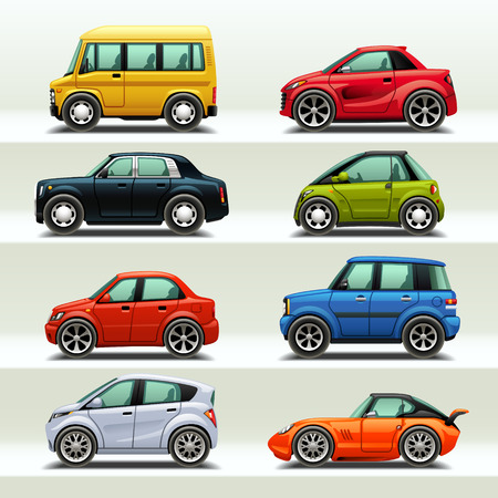 Illustration pour car icon set-3 - image libre de droit