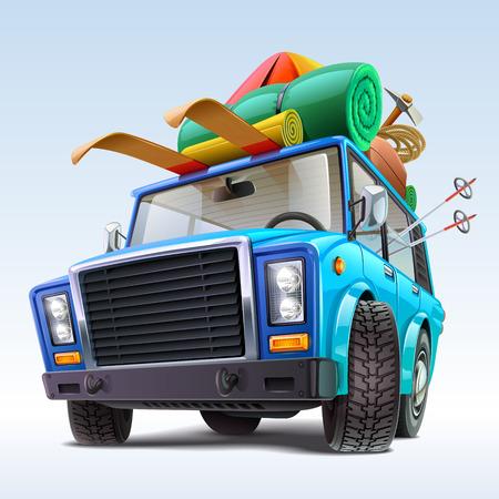 Photo pour car with winter travel outfit - image libre de droit