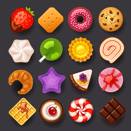 Illustration pour dessert icon set - image libre de droit