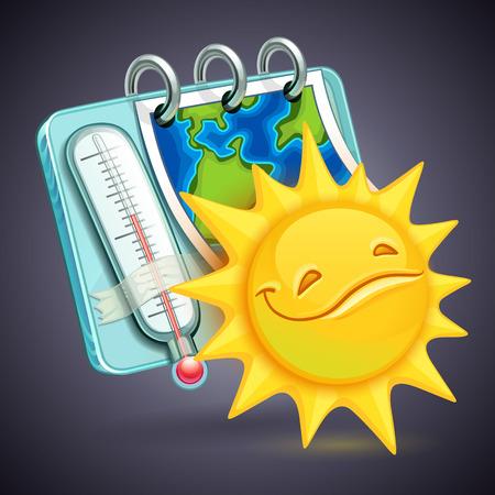 Illustration pour funny weather Icon - image libre de droit
