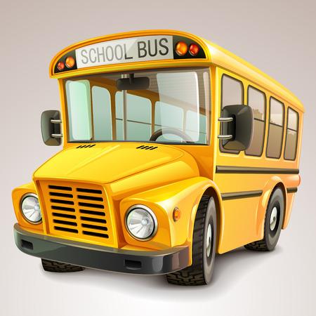 Foto de School bus vector illustration - Imagen libre de derechos