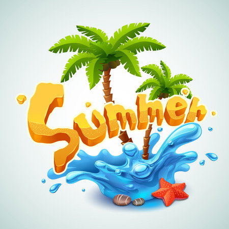Illustration pour Summer illustration - image libre de droit