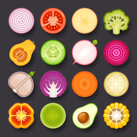 Photo for vegetable icon set - Royalty Free Image