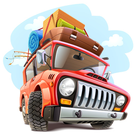 Illustration pour Vector travel car - image libre de droit