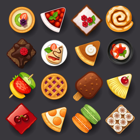 Illustration pour dessert icon set-2 - image libre de droit