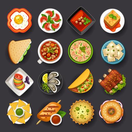 Ilustración de dishes icon set-2 - Imagen libre de derechos