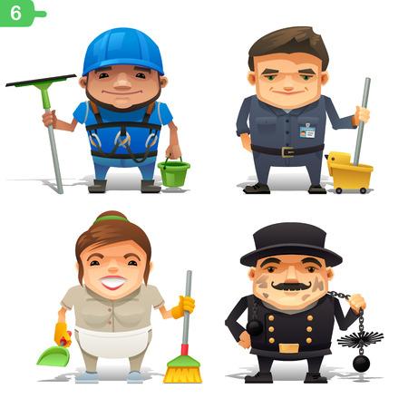 Housekeeping professions set