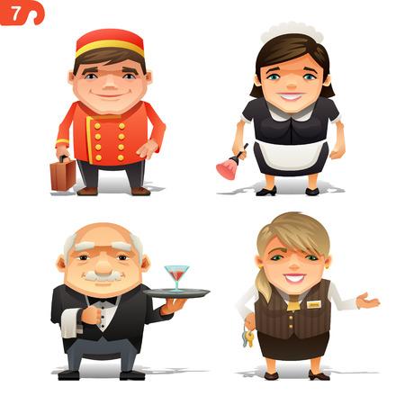 Hotel professions set
