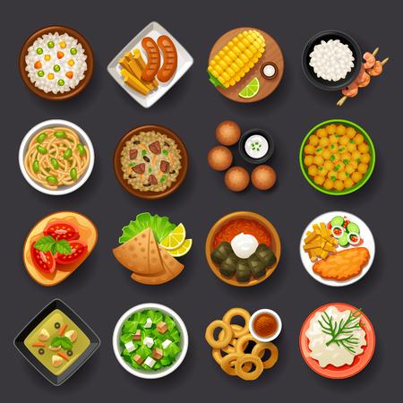 Ilustración de dishes icon set-4 - Imagen libre de derechos